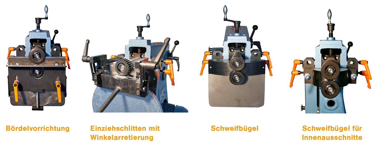 Sickenmaschine Vorrichtungen