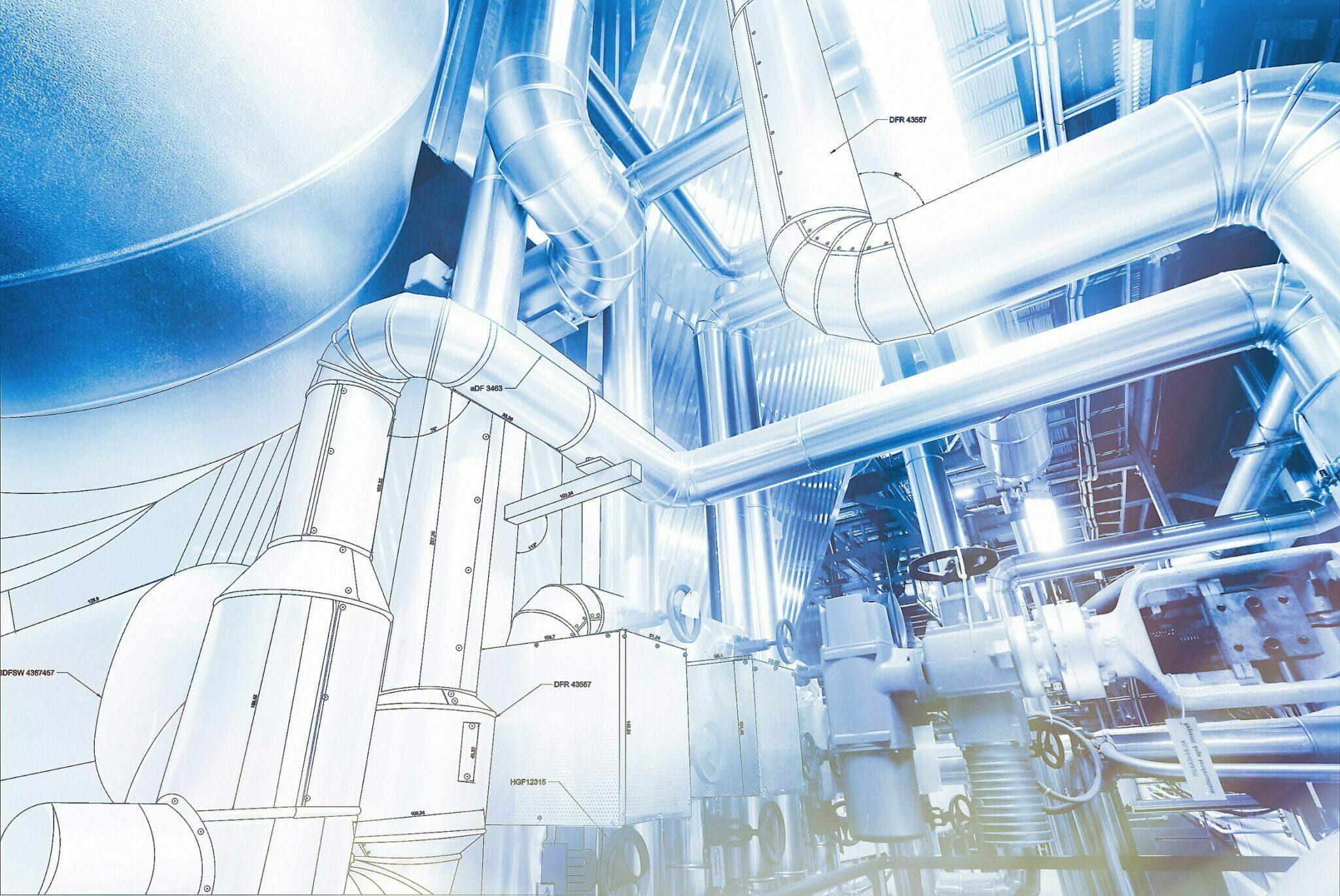 Industrieisolierung Heizungsraum